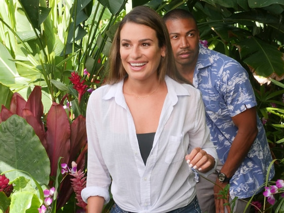 <I>Same Time, Next Christmas</i> First Look: Lea Michele Will Get You in the Spirit for a Tropical Holiday</I>