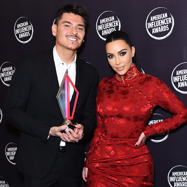 Kim Kardashian Honors Makeup Artist Mario Dedivanovic at 2019 AIAs 16