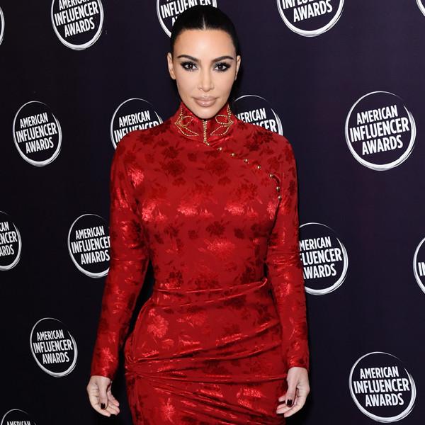 Kim Kardashian Dazzles in a Crystal-Studded Bikini Shirt Dress Inspired by Her Body