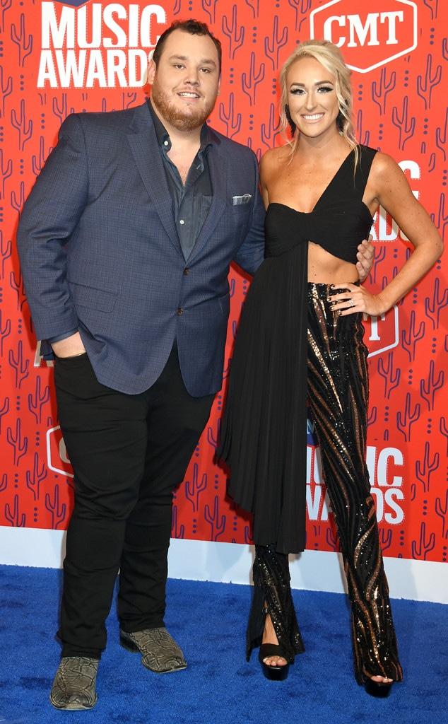 Luke Combs, Nicole Hocking, 2019 CMT Music Awards