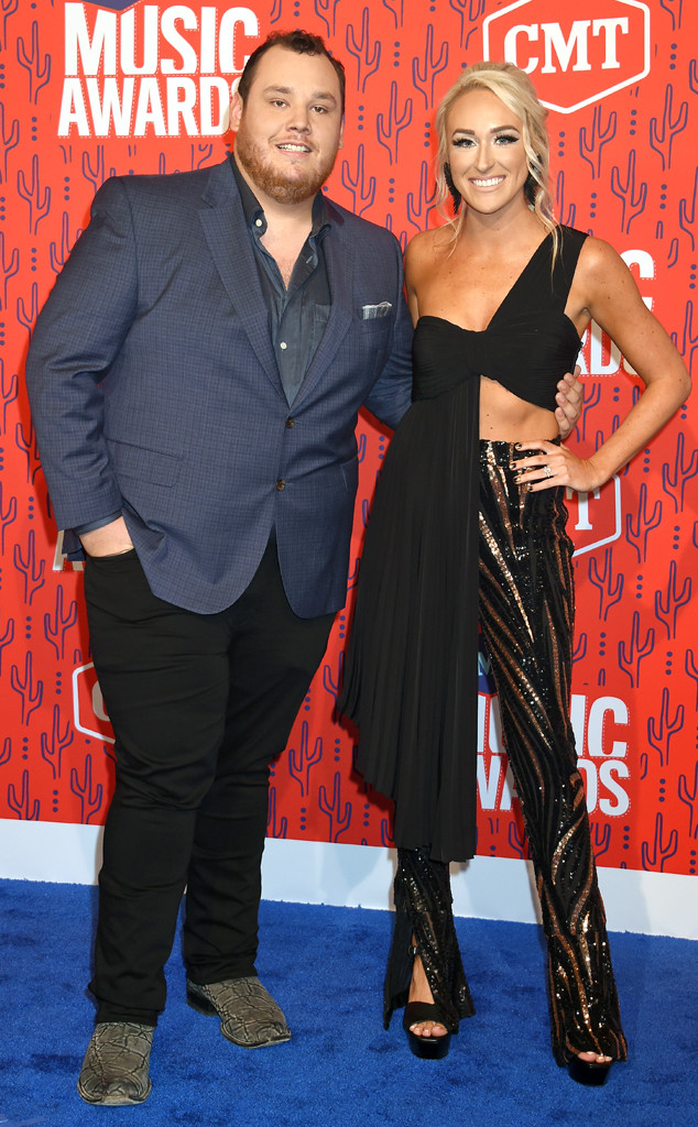 Luke Combs, Nicole Hocking, 2019 CMT Music Awards