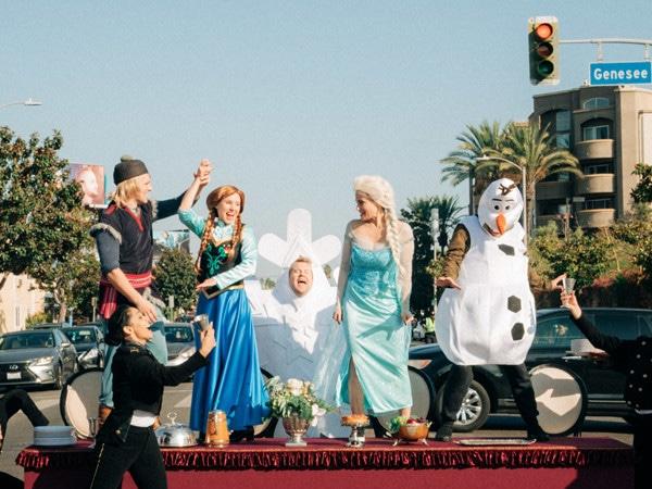 The <i>Frozen</i> Cast's Crosswalk the Musical Will Make You Melt
