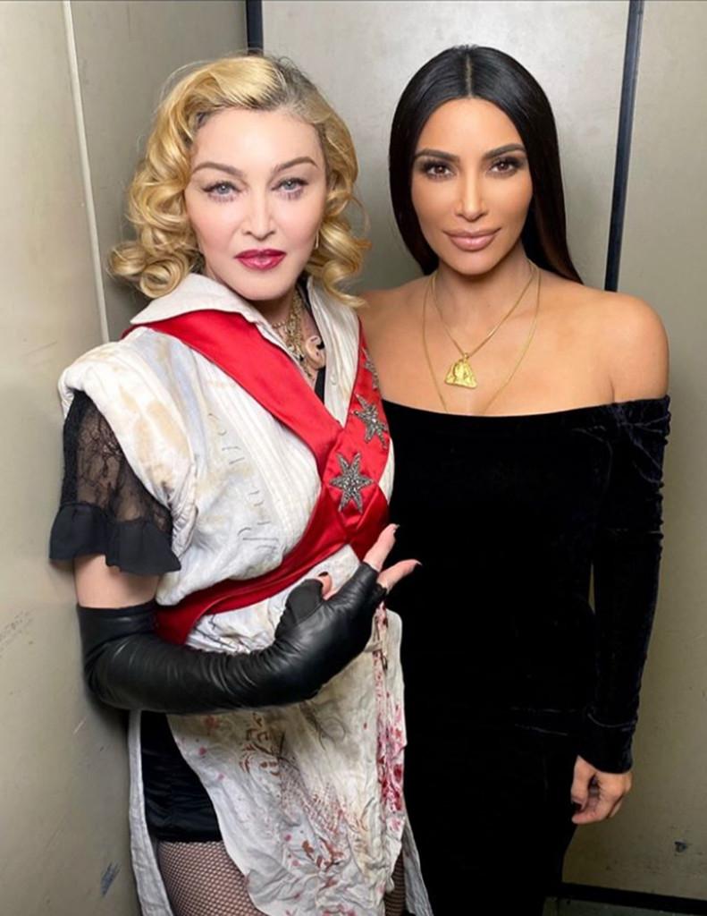 Kim Kardashian, Madonna, Instagram