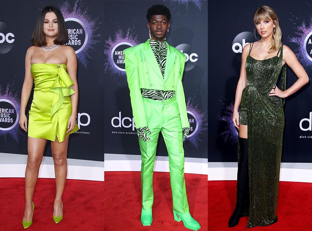 Ecomm: AMAs Green Trend, Selena Gomez, Lil Nas X, Taylor Swift