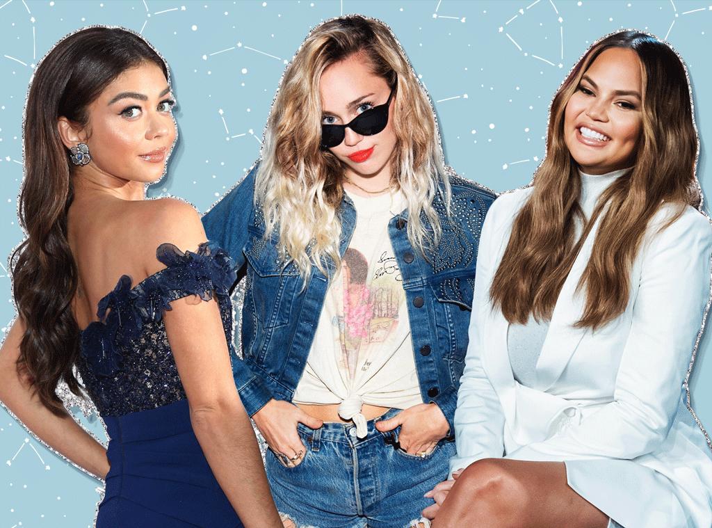 E-Comm: December Horoscopes, Sagittarius Celebs, Sarah Hyland, Miley Cyrus, Chrissy Teigen