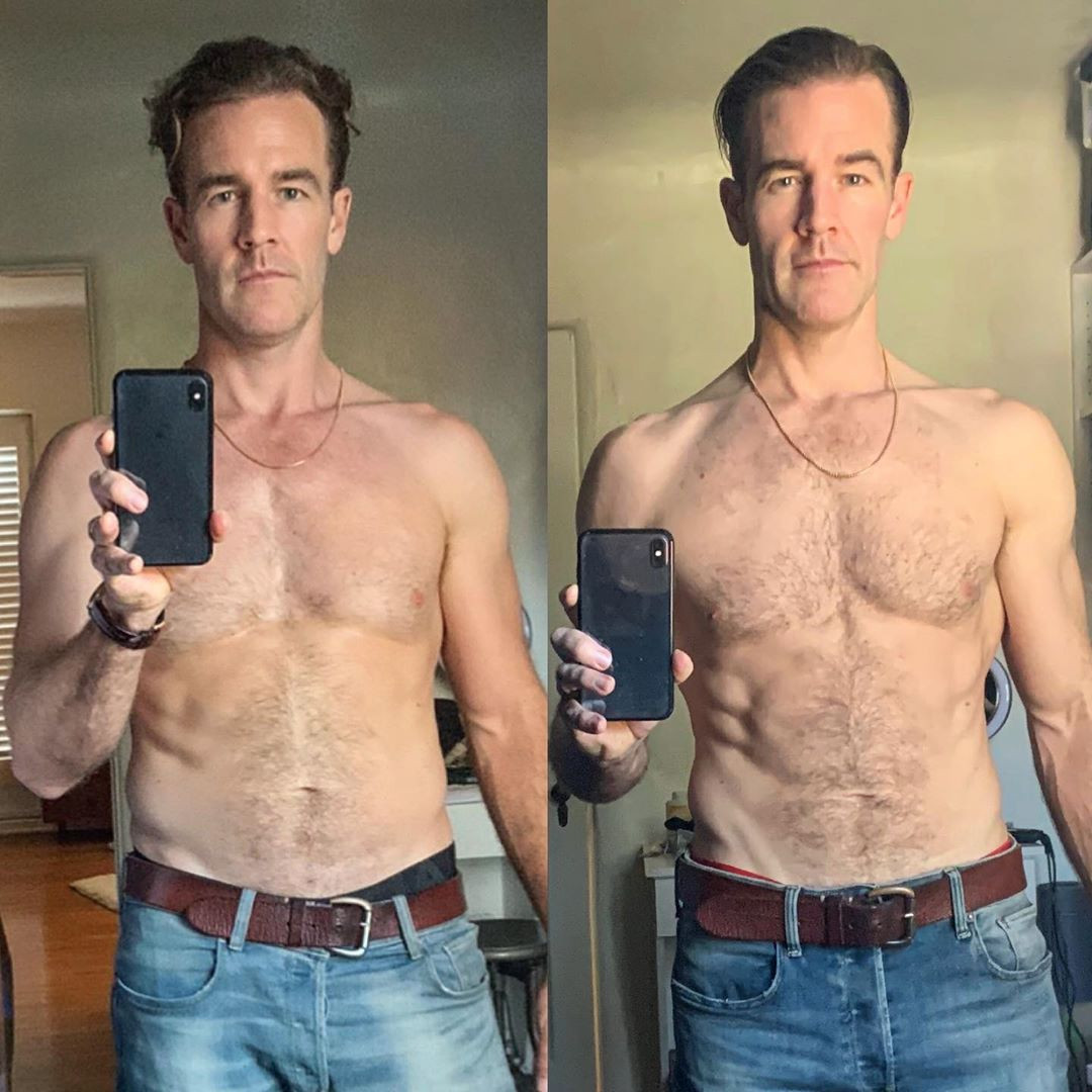 James Van Der Beek, weight loss, instagram