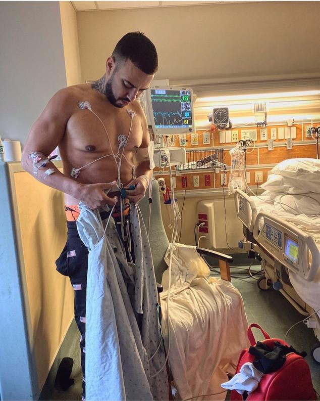 French Montana, hospital