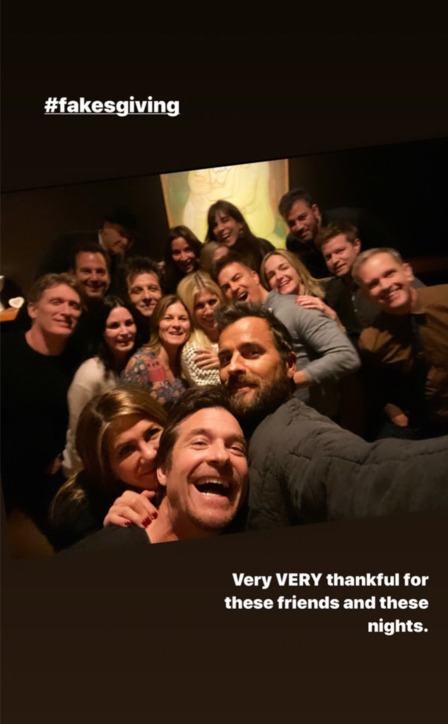 Justin Theroux, Jennifer Aniston, Courteney Cox, Jimmy Fallon, Will Arnett, Jason Bateman, Thanksgiving