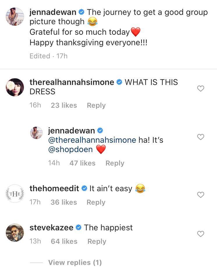 Jenna Dewan, Steve Kazee, Instagram, Comment