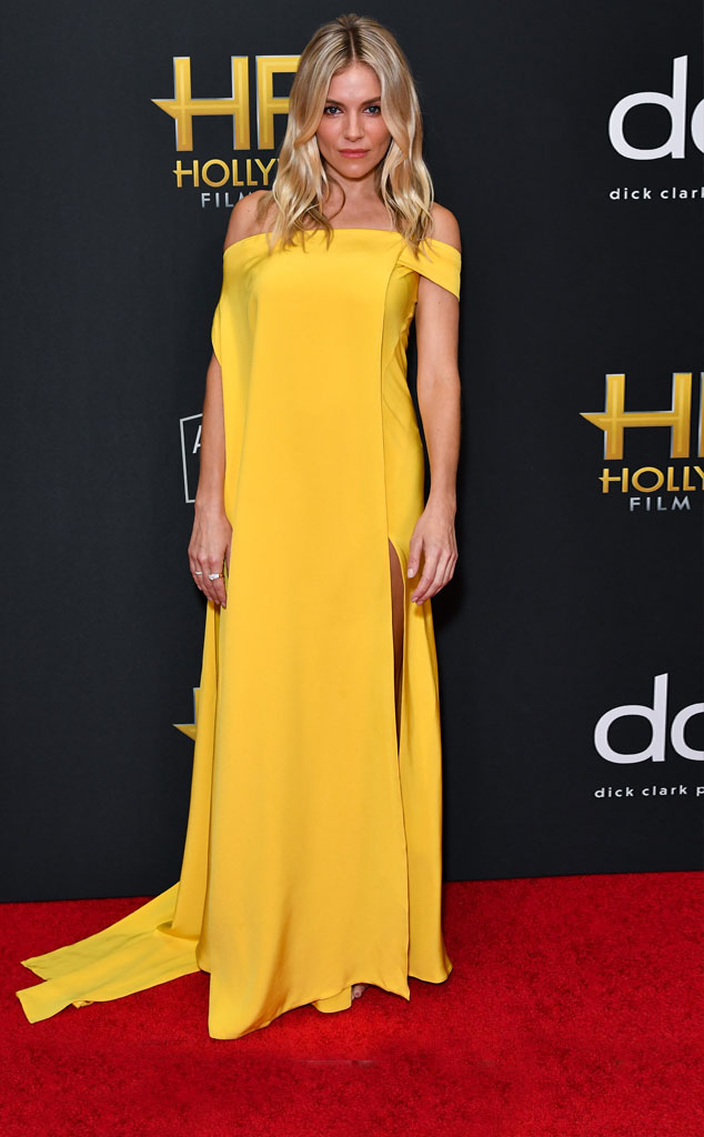 Sienna Miller, 2019 Hollywood Film Awards, Arrivals, Fashion Police Widget