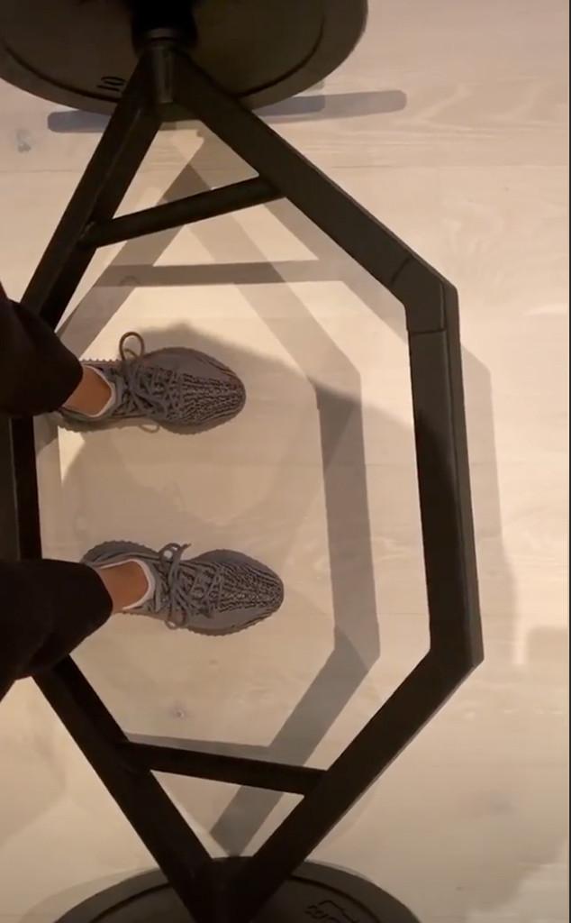 Kim Kardashian, Gym, Instagram
