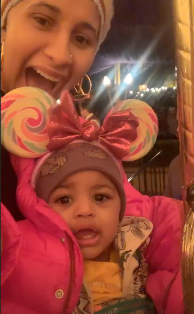 Cardi B, Kulture, Daughter, Disneyland, Instagram