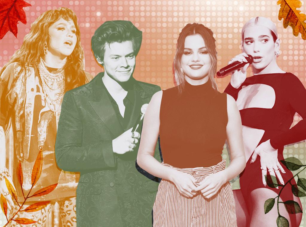 Fall Music Comebacks, Harry Styles, Kesha, Selena Gomez, Dua Lipa