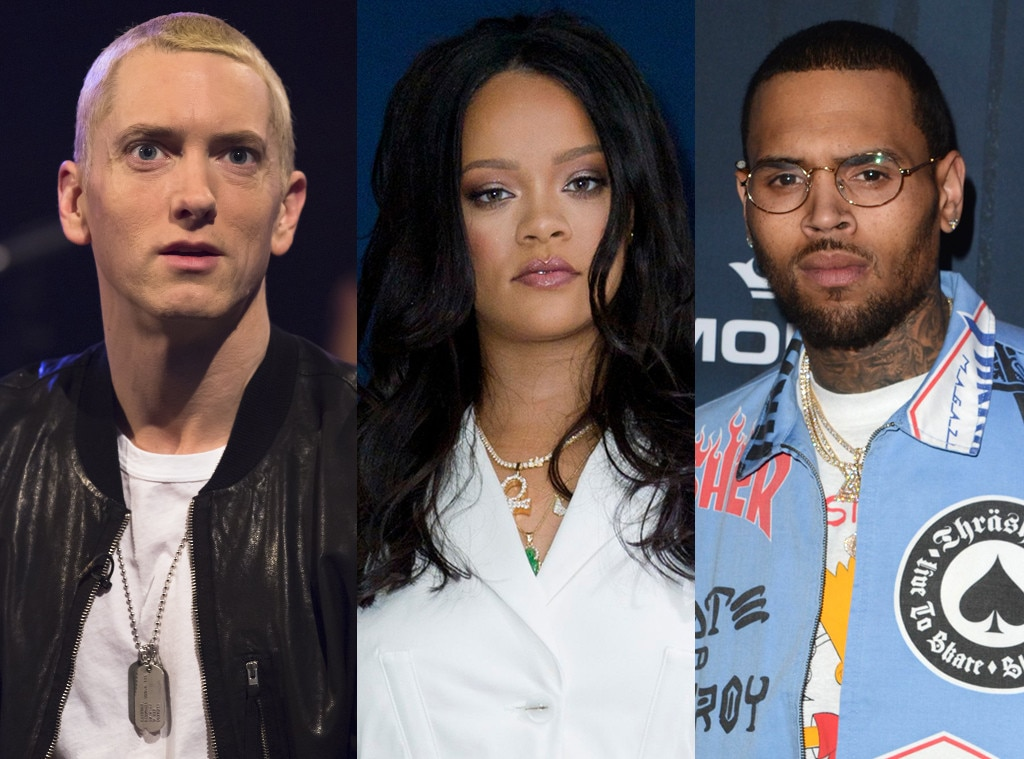 Eminem Says He Sides With Chris Brown While Rapping About Rihanna Assault