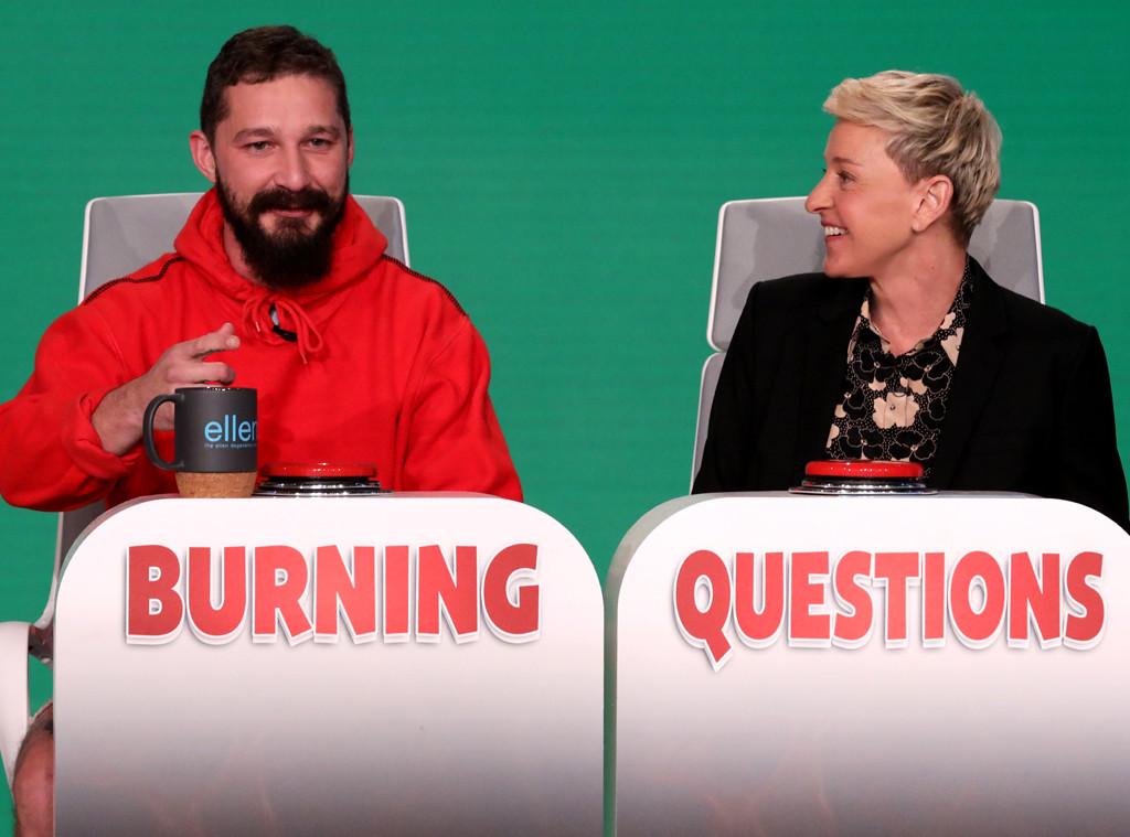 Shia LaBeouf, The Ellen DeGeneres Show 2019