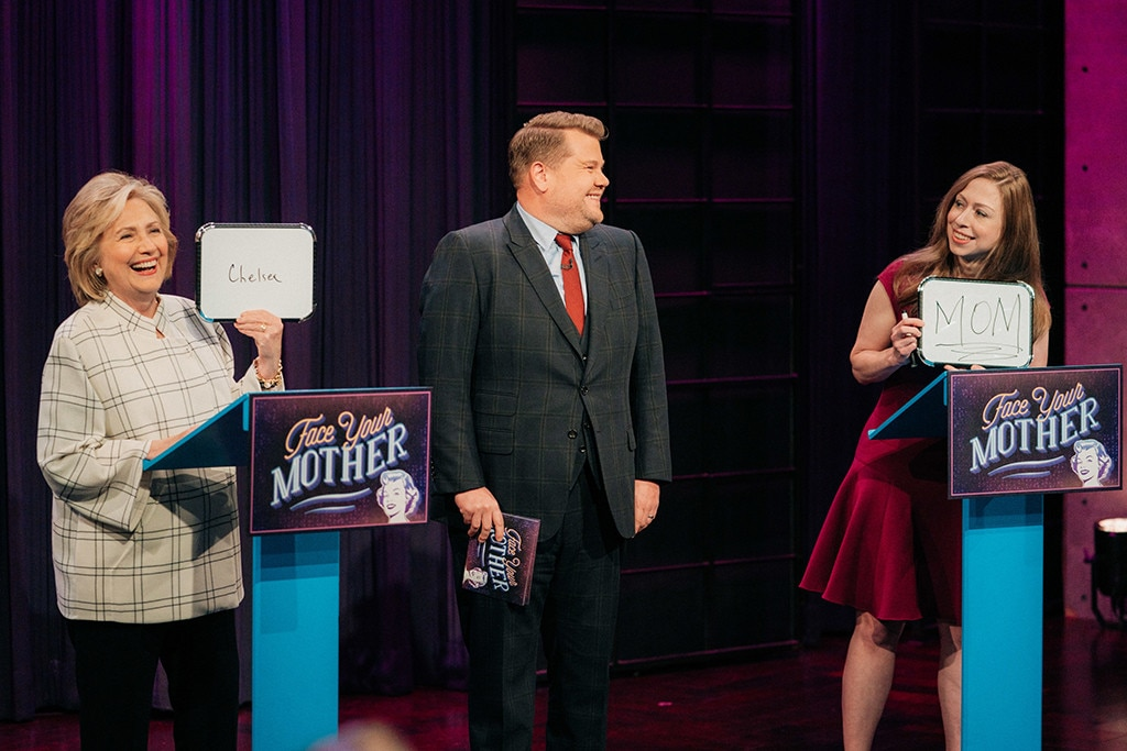 Hillary & Chelsea Clinton Crash James Corden's Monologue & Play 'Face Your Mother'
