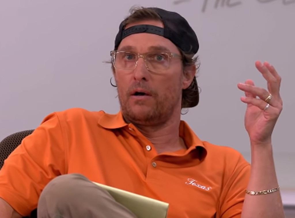 Matthew McConaughey, Tonight Show