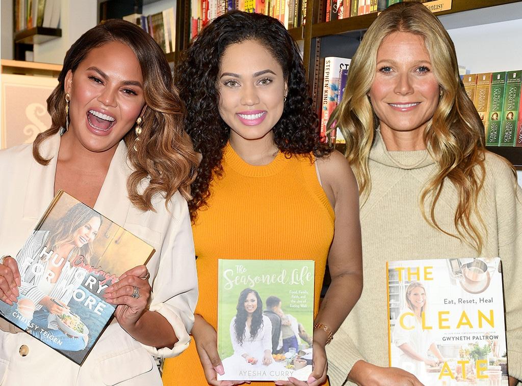 E-Comm: Celebrity Cookbooks, Chrissy Teigen, Ayesha Curry, Gwyneth Paltrow
