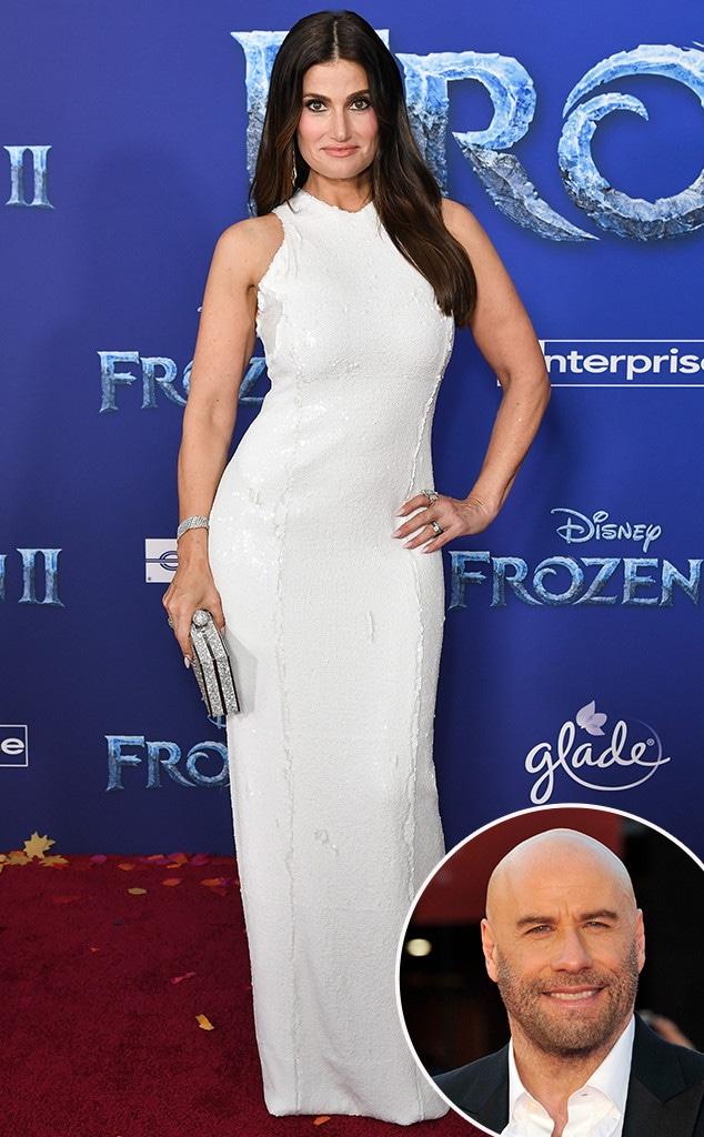 Idina Menzel, John Travolta