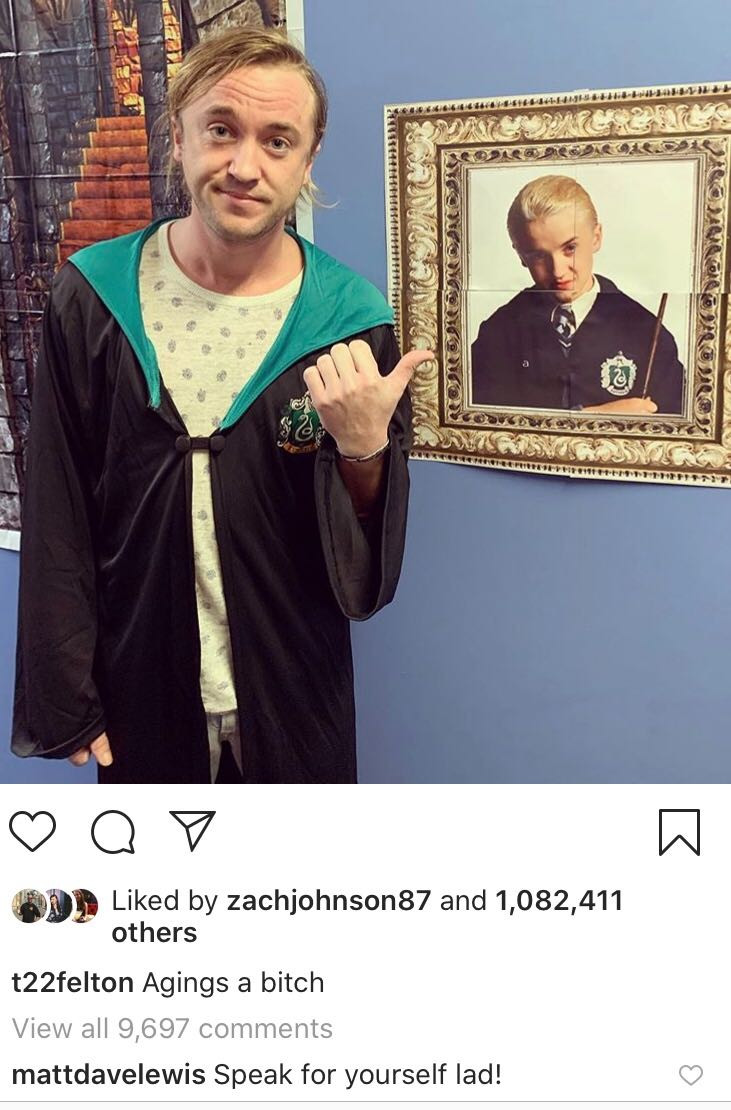 Tom Felton, Matthew Lewis, Instagram