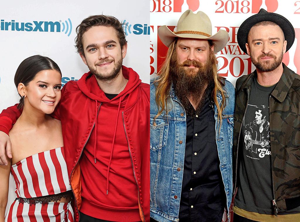Zedd, Maren Morris, Chris Stapleton, Justin Timberlake