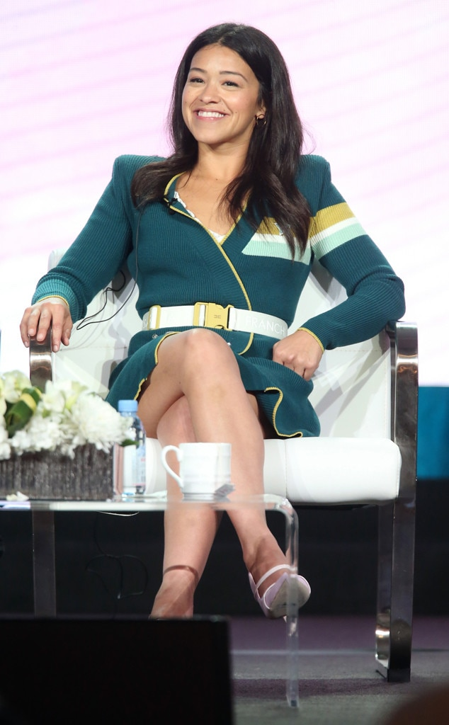 Gina Rodriguez -  Onstage star! The Jane the Virgin actressspeaks at the2019 Winter Television Critics Association Press Tour in Pasadena, Calif.