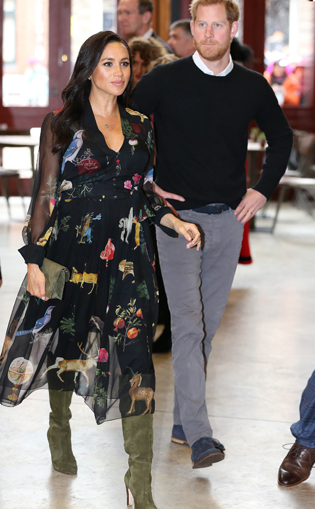 3d0aef8984b Meghan Markle Rocks a Wild Print for Royal Visit With Prince Harry ...