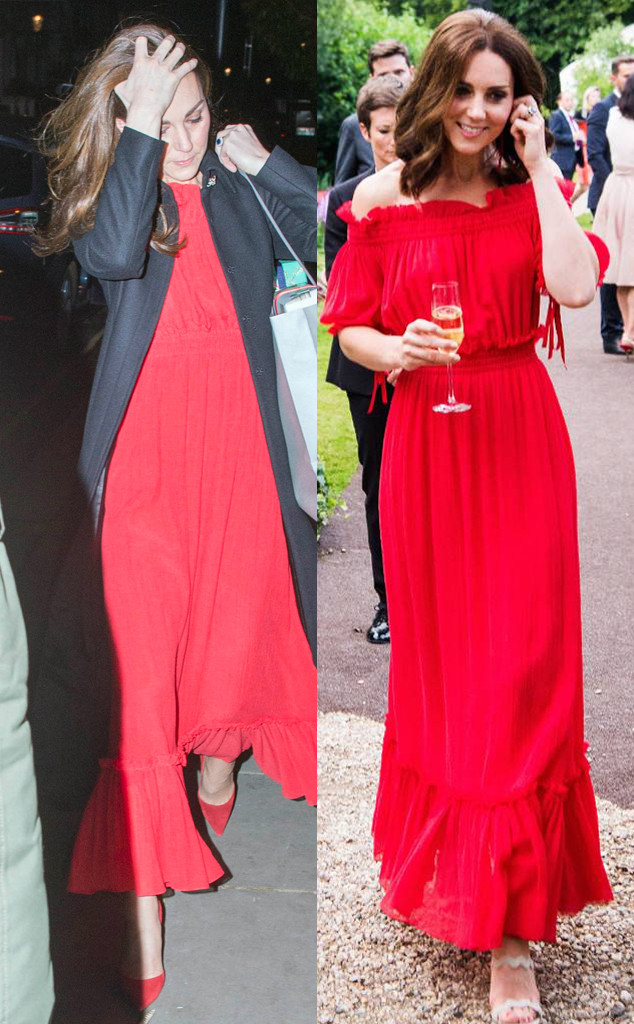 Kate Middleton, Duchess of Cambridge, Red Dress