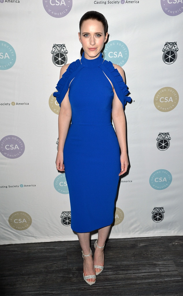 Blue Belle - The Marvelous Mrs. Maisel  star  Rachel Brosnahan  stuns in a royal blue Christian Siriano dress at the Artios Awards in NYC.