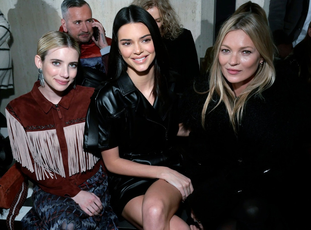 Kendall Jenner, Emma Roberts, Kate Moss, Longchamp Show, Celebs at Fashion Week, 2019