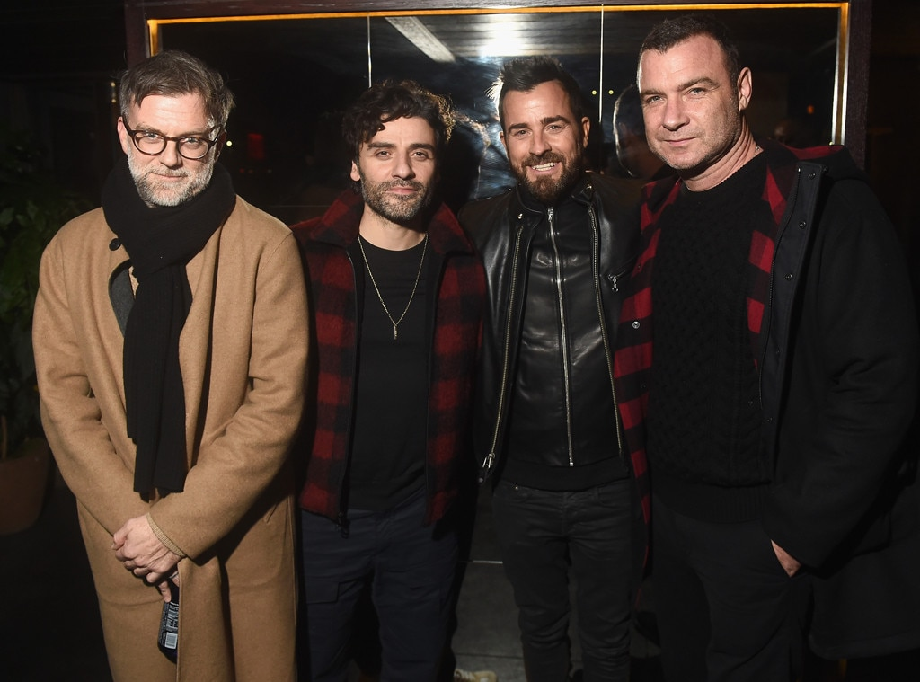 Paul Thomas Anderson, Oscar Isaac, Justin Theroux, Liev Schreiber, Celebs at Fashion Week, 2019
