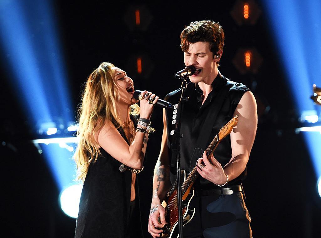 Miley Cyrus, Shawn Mendes, 2019 Grammys