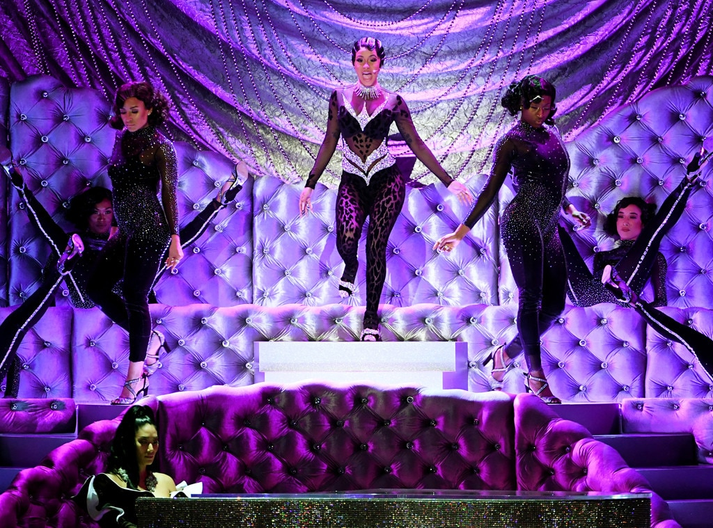 Cardi B Twerks All Over the GRAMMYs Stage for Showstopping 'Money' Performance