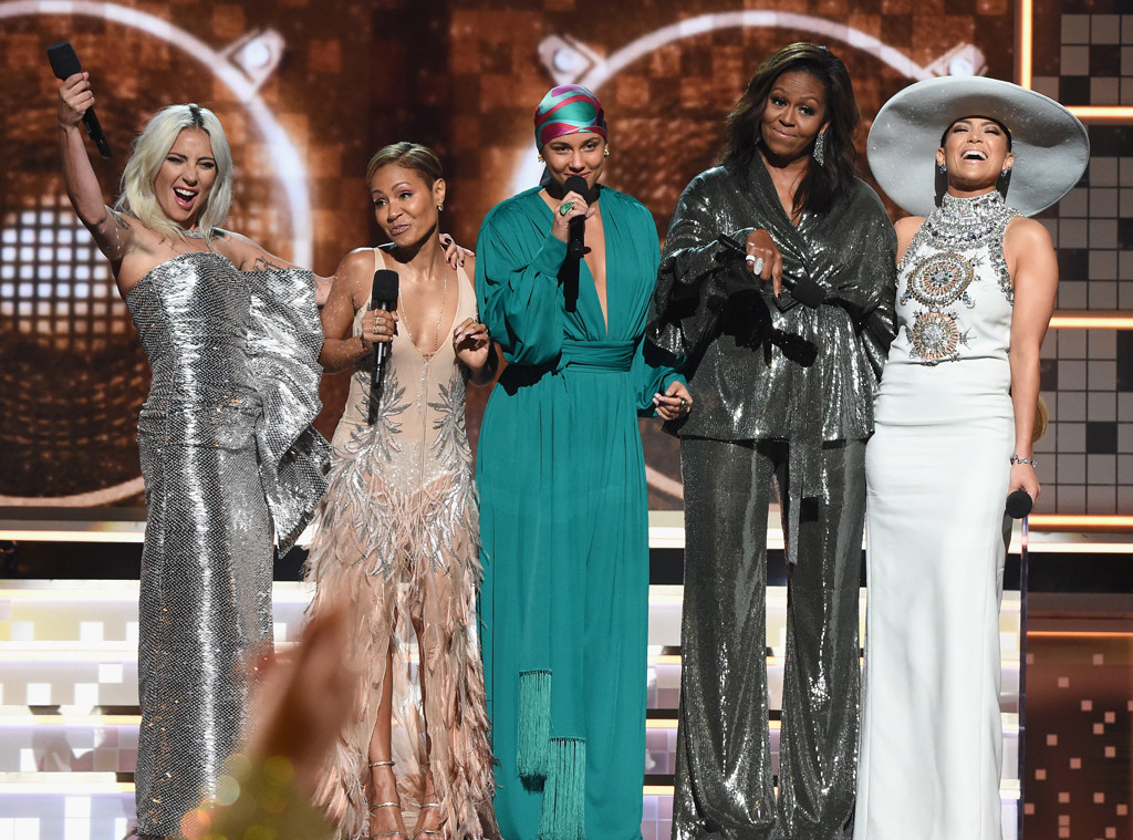 Lady Gaga, Jada Pinkett Smith, Michelle Obama, Alicia Keys, Jennifer Lopez, Grammy Awards 2019
