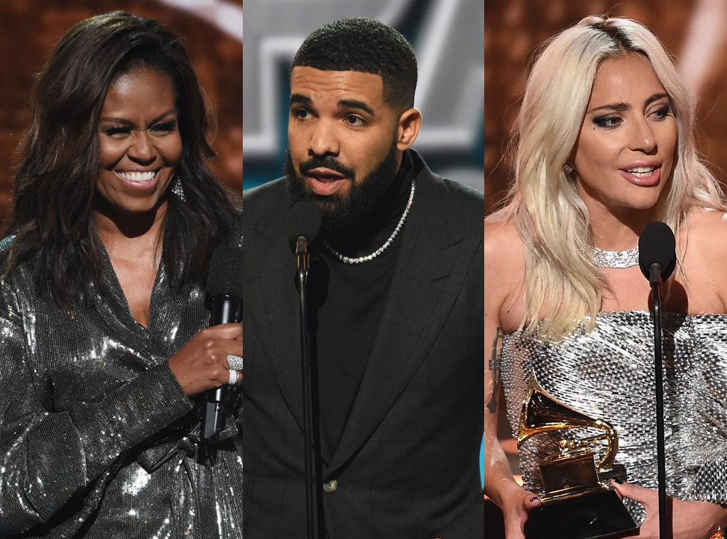 Michelle Obama, Drake, Lady Gaga, Grammy Awards 2019