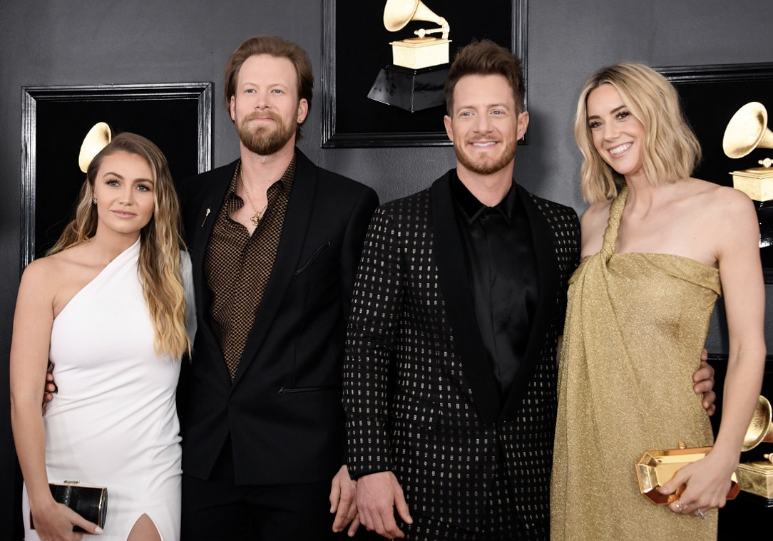 Florida Georgia Line & Wives -  Country superstars  Brian Kelley  and  Tyler Hubbard  are joined by their wives ( Brittney Marie Cole  and  Hayley Stommel , respectively) on the red carpet.