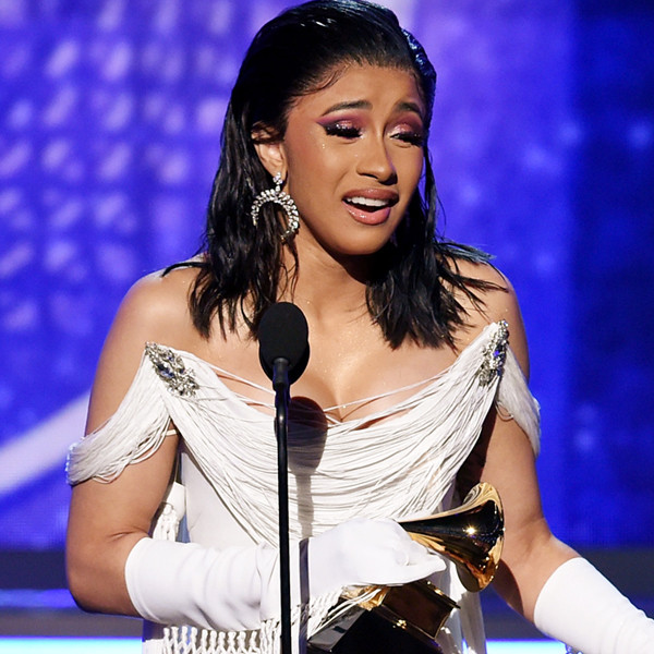Cardi B Holds Back Tears as She Makes History With Best Rap Album Win at 2019 Grammys