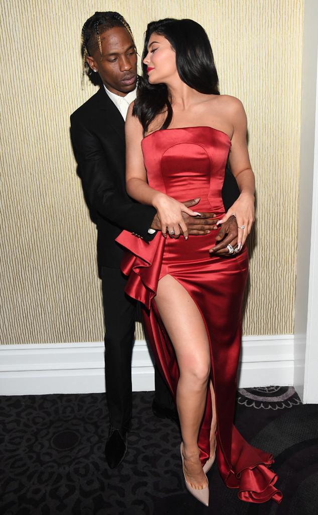 Travis Scott, Kylie Jenner, Clive Davis Pre-Grammy Party