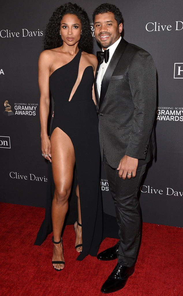 Ciara, Russell Wilson, Clive Davis Pre-Grammy Party