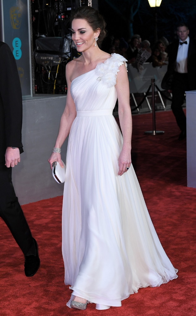 Gorgeous Gowns -  The royal stunned in a white McQueen gown for the 2019 BAFTA Awards.