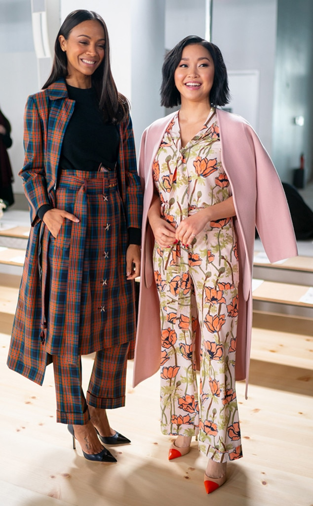 Zoe Saldana, Lana Condor, Tory Burch Show, Celebs at Fashion Week, 2019
