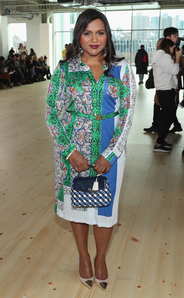 Mindy Kaling, Tory Burch Show, Celebs at Fashion Week, 2019