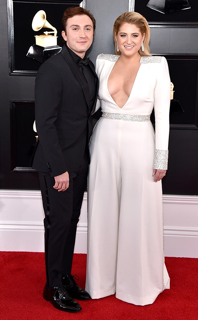 Daryl Sabara & Meghan Trainor -  The newlyweds are picture perfect while posing for photographers.