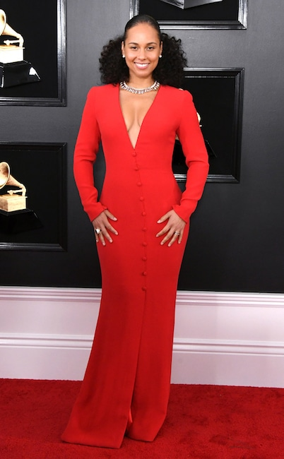 Alicia Keys, 2019 Grammys, 2019 Grammy Awards, Red Carpet Fashions