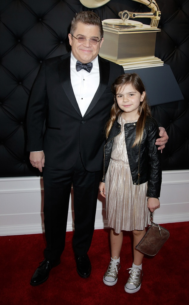 Patton Oswalt and Alice Rigney Oswalt -  Oswalt, who's nominated for best comedy album, brought daughter Alice along as his date.
