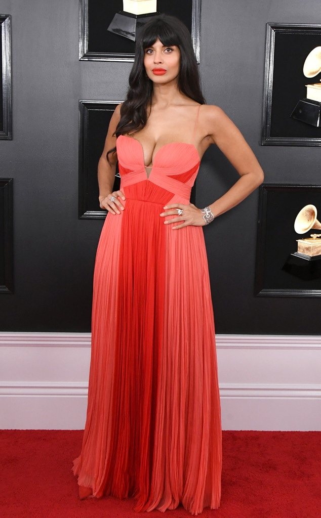 Jameela Jamil, 2019 Grammys, 2019 Grammy Awards, Red Carpet Fashions