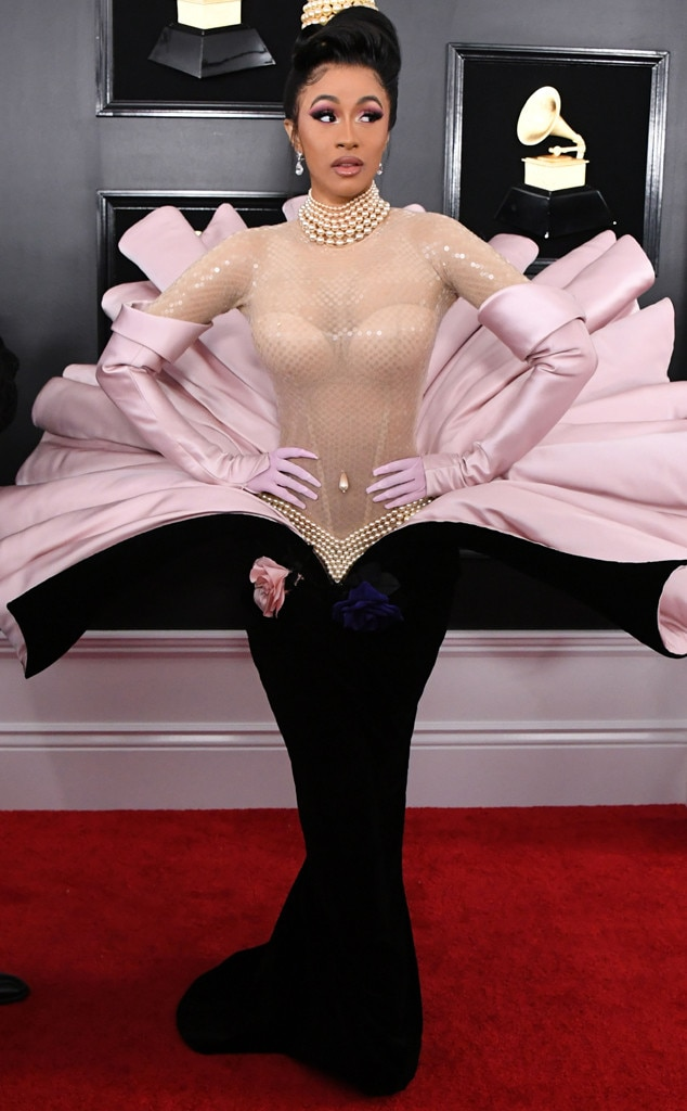 Cardi B, 2019 Grammys, 2019 Grammy Awards, Red Carpet Fashions