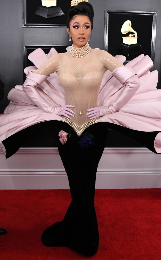 Cardi B, 2019 Grammys, 2019 Grammy Awards, Red Carpet Fashions