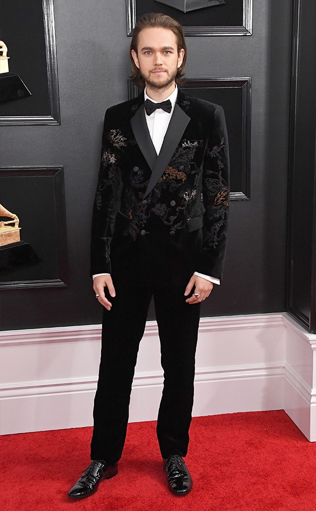 Zedd - Zedd  killed it with this velvet suitwith floral embossed designs.