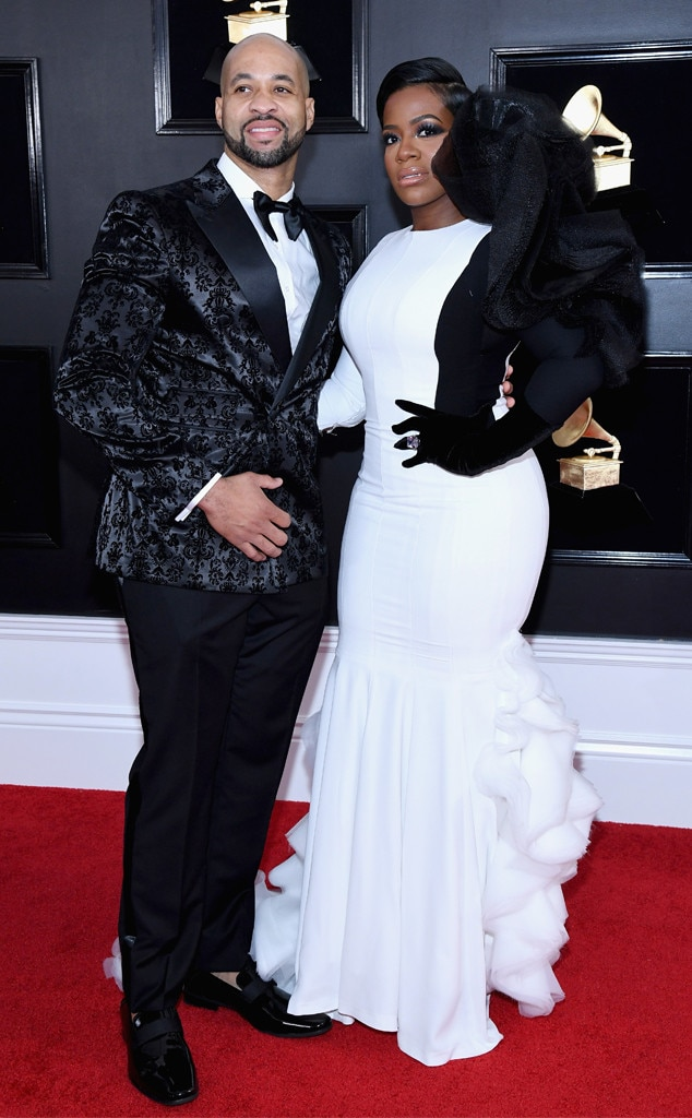 Fantasia Barrino & Kendall Taylor -  The  American Idol  alum looks just splendid next to her man at the Grammys.